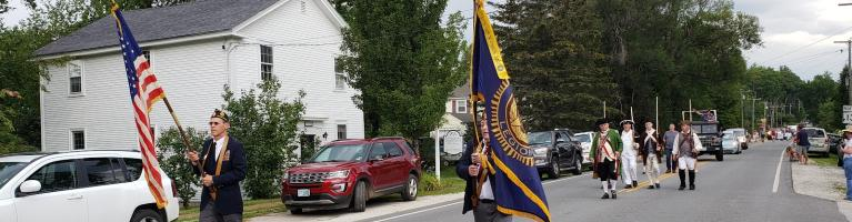 Start of Old Home Day parade 2021